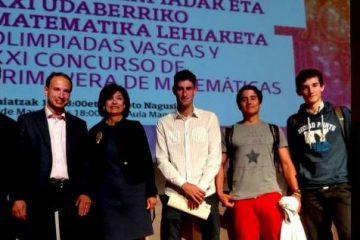 Gaztelueta: entrega de premios Olimpiadas Científicas 2017 UPV/EHU