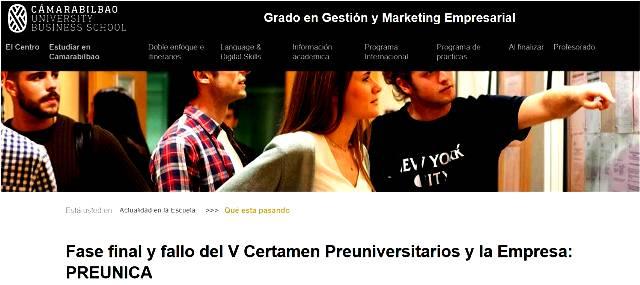 Gaztelueta en el VII Certamen Preuniversitarios y la Empresa (Cámara Bilbao)