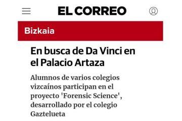 El Correo sobre Proyecto Forensic Science de Gaztelueta