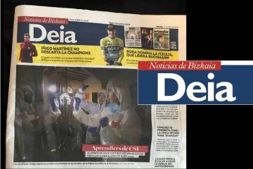 Proyecto Ciencia Forense de Gaztelueta portada en Deia