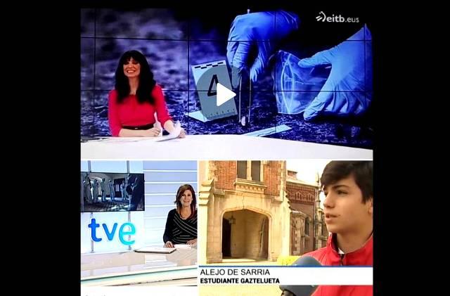 Proyecto Forensic Science Gaztelueta en eitb y TVE