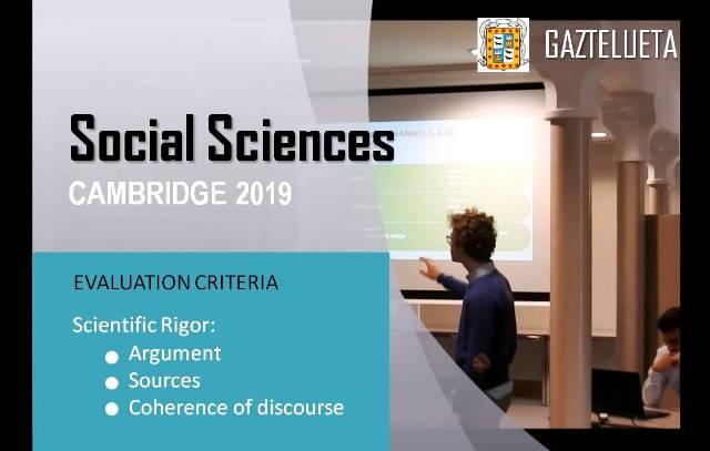 Gaztelueta Social Sciences Congress - Cambridge