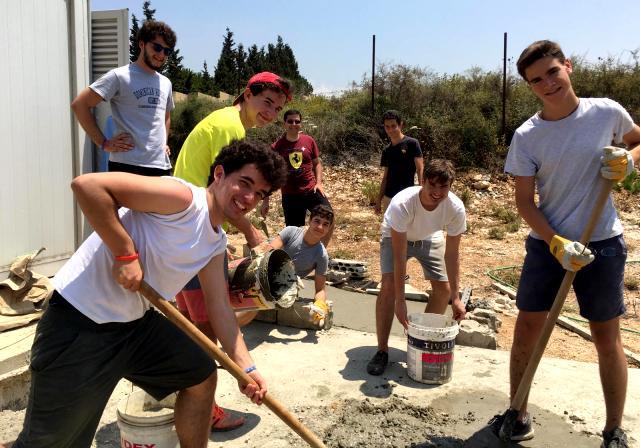 Campo solidario Bachillerato Gaztelueta en Líbano