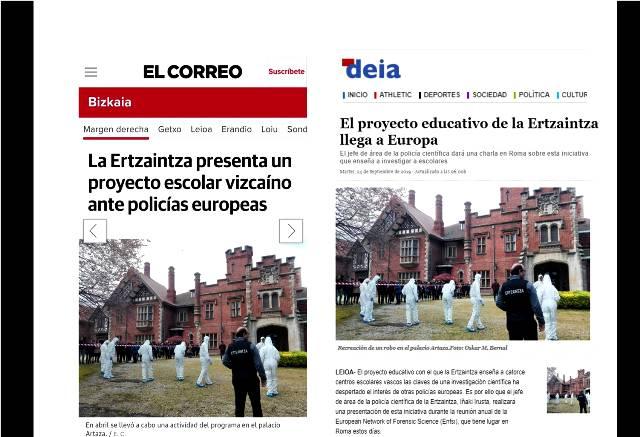 Forensic Science de Gaztelueta llega a Europa