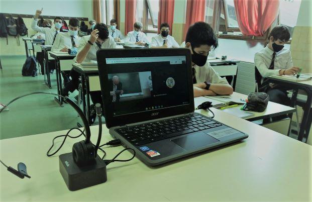 Bachillerato en Gaztelueta clase en streaming
